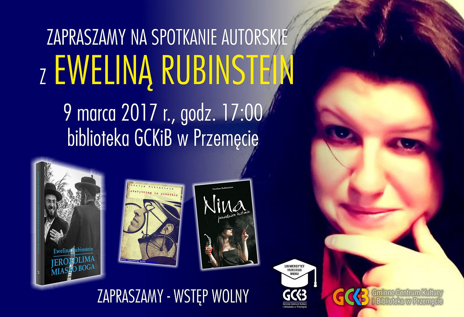 Zapraszamy na spotkanie z Eweliną Rubinstein
