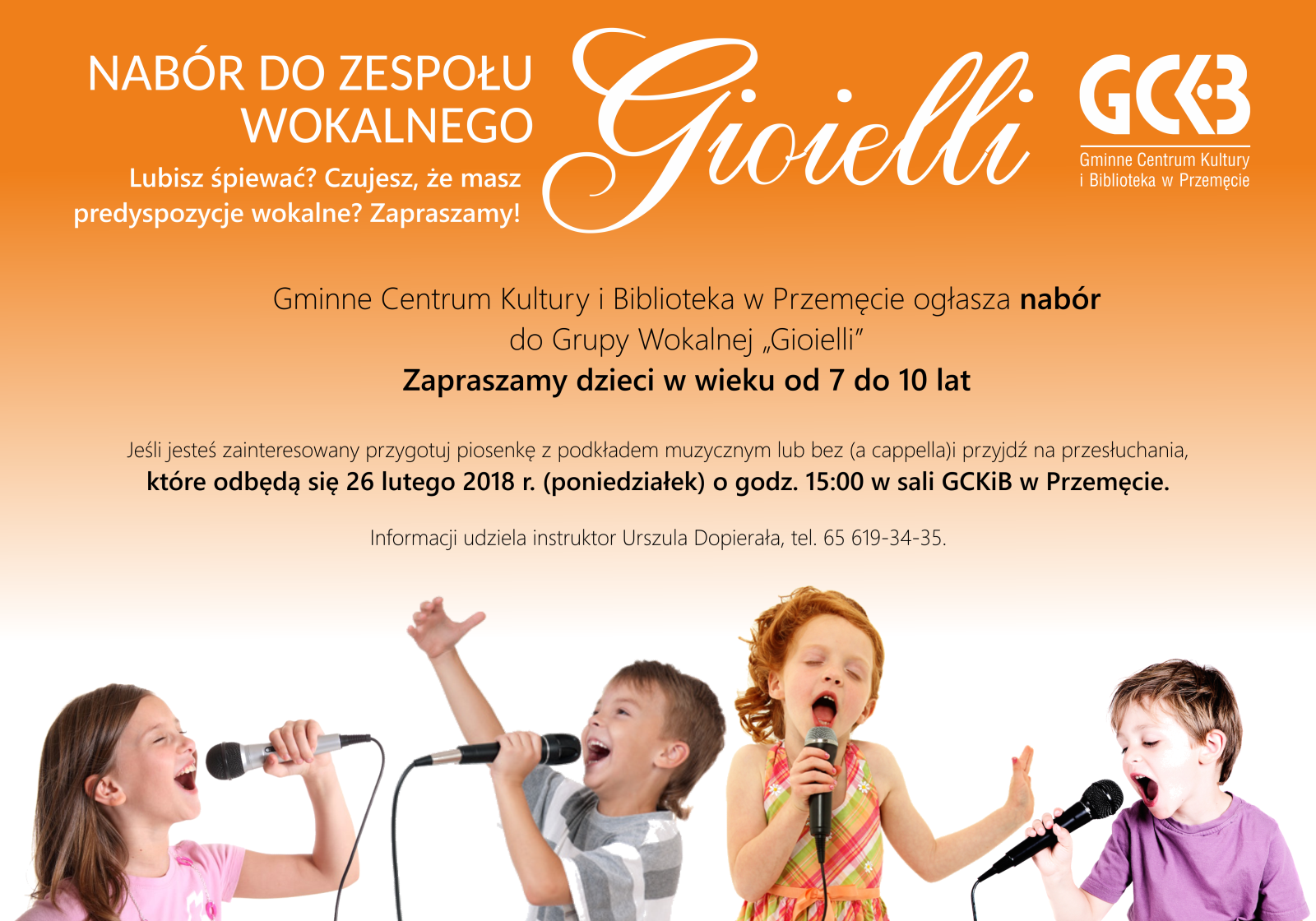 Nabór do zespołu wokalnego GIOIELLI